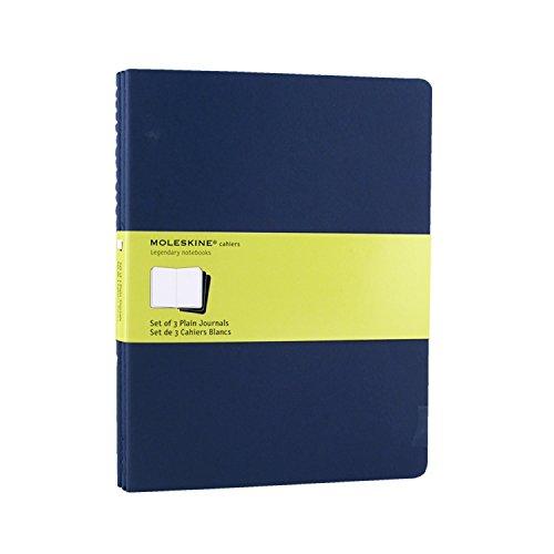 Moleskine Cahier Soft Cover Journal, Set of 3, Plain, XL (7.5