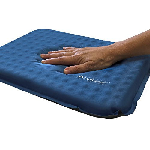 Lightspeed Outdoors Self-Inflating Stadium Seat Cushion with an Integrated Carry Bag (Blue)