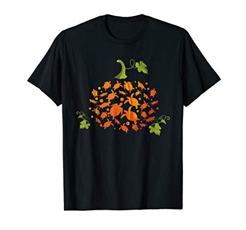 (Cute Pumpkin Turtle Sea TShirt Halloween Costume Gift Farmer T-Shirt)
