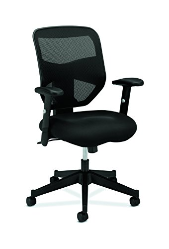 HON Prominent High Back Work Chair - Mesh Computer Chair Office Desk, Black (HVL531) from HON