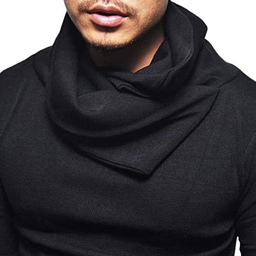 Cut Solid Out manica Lannister Bambini lunga Felpa Schwarz Autunno Slim Dolcevita per Camicia Tops Retro Fashion uomo SBFqf8Tw