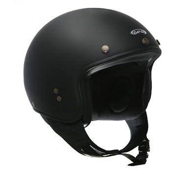 Gpa Casque Mini Jet Gpa Biker Couleur Noir Mat Taillem