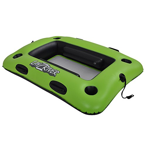 Blue Wave Sports RL1856 Layzriver 44-in x 33-in Inflatable Swim Cooler Float, Green/Black, 44 x - Oasis Cooler Floating