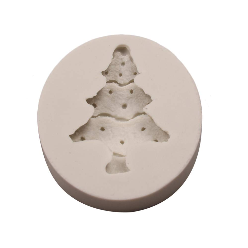 Silicone Christmas Tree Santa Claus Elk Sled Stick Mold Chocolate Cake Moulds
