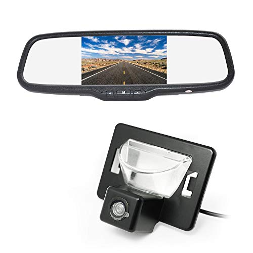 Vardsafe VS186C | Reverse Backup Camera + Clip-on Rear View Mirror Monitor for Mazda Premacy Mazda 5 Ford i-MAX (2005-2010)