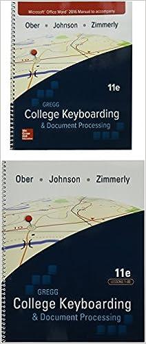 gregg college keyboarding document processing gdp11 microsoft