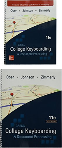 Gregg College Keyboarding & Document Processing (Gdp11) Microsoft Word 2016 Manual