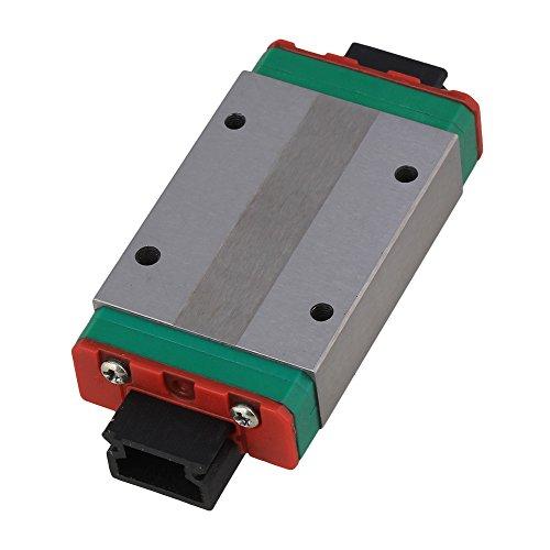 CNBTR MGN15H Mini Bearing Steel Extension Linear Sliding Guideway Rail Block Silver for Precise Measurement Equipment