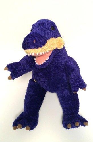 Build a Bear Purple/yellow Mouth Plush Dino Dinosaur Brown Eyes Stripes Trex 18