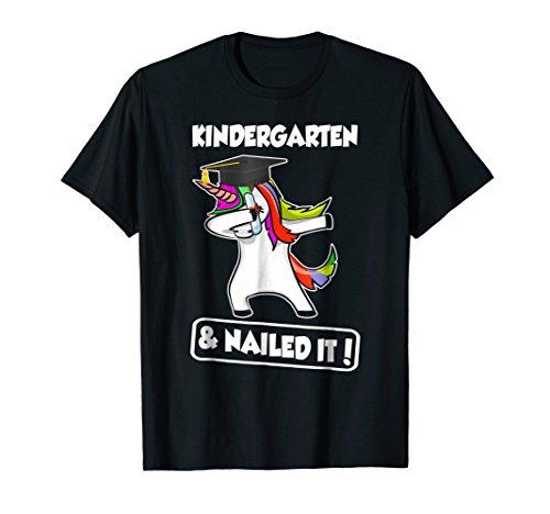 Unicorn Dabbing Graduation Kindergarten And Nailed It Tshirt ()