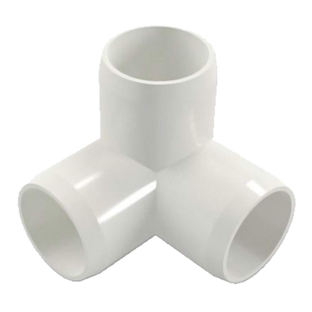 4 Way 1//2 8pcs Sasonco PVC Corner Fitting Tee Pipe Fittings PVC Elbow Corner Side Outlet Tee Fitting PVC Three Quarter Elbow Fittings