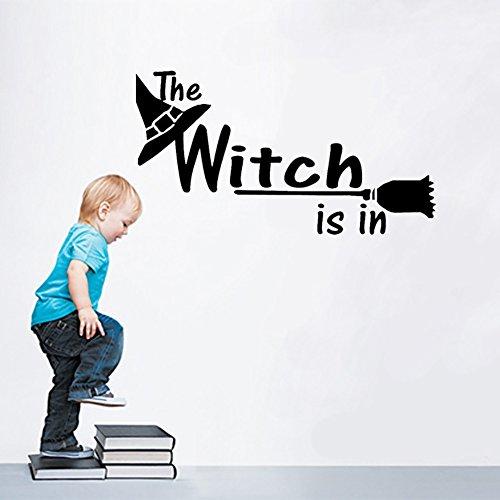 Smartcoco DIY Creative Halloween Witch Wall Sticker Vivid Wallpaper Poster Kid Room Living Room Bedroom Halloween Decor (Betty Boop Halloween Wallpaper)