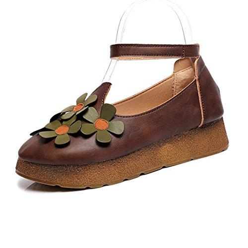 vintage zapatos planos/Colegio primavera viento literatura zapatos/Zapatos planos/flor A