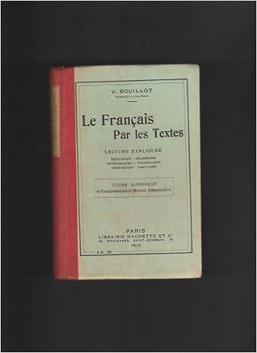 Livre Gratuit A Telecharger V Bouillot Le Francais Par
