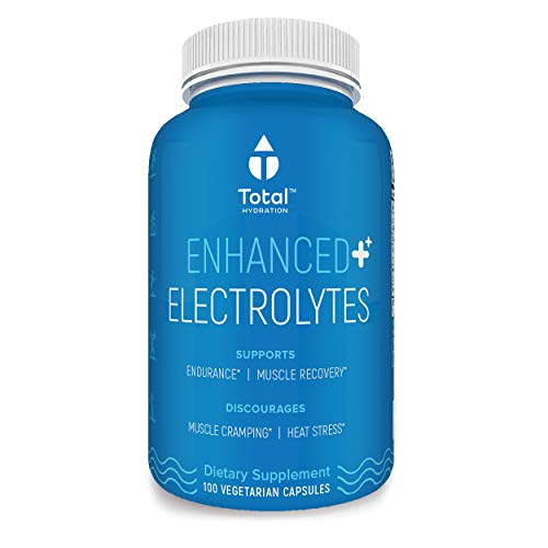 Electrolyte Tablets - Natural Replacement Rehydration Salts W/Magnesium, Zinc, P5P, Calcium & Sodium | Aids Rapid Rehydration & Recovery from Exercise While Preventing Cramps - 100 Hydration Capsules
