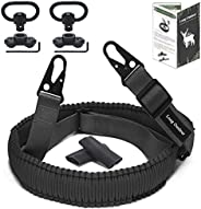 Long Outdeer 2-Point Sling for Rifle with 2-Pack Q-D Swivel Mounts, Paracord Gun Sling with Quick-Adjust Lengt