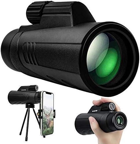 Newseego 50x60 High Definition Monocular Telescope,Super Zoom Monocular Spyglass with Smartphone Holder Tripod FMC Lens BAK4 Prism Starscope HD Focus Monocular Scope for Wildlife Bird Watching Camping