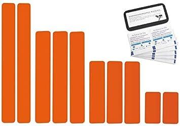 Selbstklebende Planenreparatur Tapes 10 Teilig Easy Patch Comfort 50mm Für Zelte Planen Uvm Reinorange Ral 2004 Auto