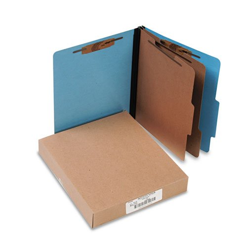 (Presstex Colorlife Classification Folders, Letter, 6-Section, Light Blue, 10/Box, Sold as 10 Each)