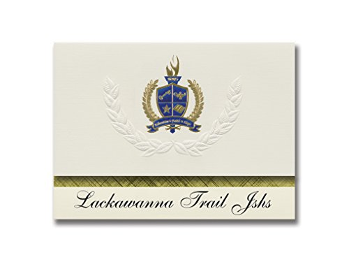 Signature Announcements Lackawanna Trail Jshs (Factoryville, PA) Graduation Announcements, Presidential style, Elite package of 25 with Gold & Blue Metallic Foil seal
