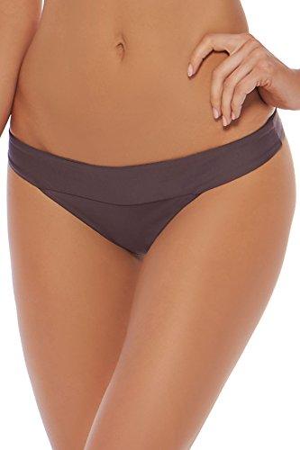 New L Space Women's Veronica Bikini Bottom Nylon Spandex (L Space Nylon Bikini)