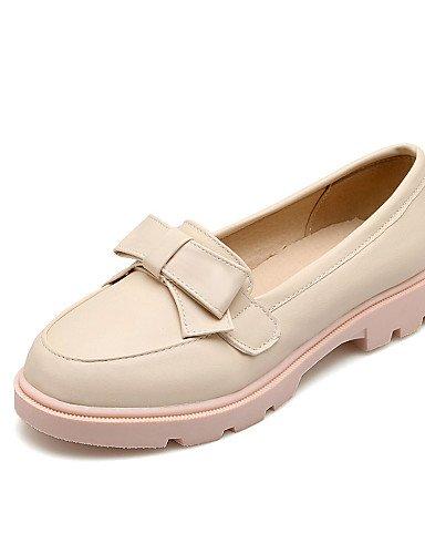GGX/ Damenschuhe-High Heels-Büro / Lässig-PU-Niedriger Absatz-Komfort / Rundeschuh-Blau / Rosa / Weiß / Beige pink-us8 / eu39 / uk6 / cn39