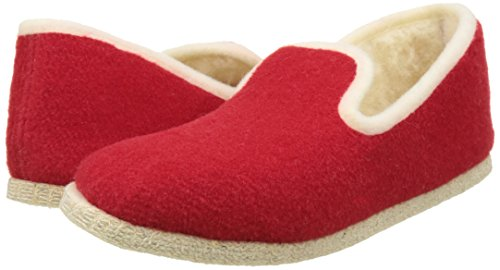 20 Bas Calmont Rondinaud Chaussons Adulte Mixte Rouge Rouge nOafg8