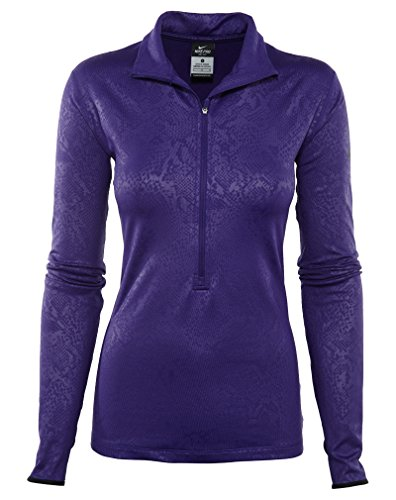 Nike Pro Hyperwarm Embossed 1/2 Zip Pullover Top Womens Style: 695578-547 Size: - Nike T-shirt Embossed