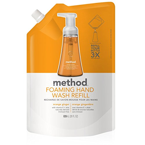 (Method Naturally Derived Foaming Hand Wash Refill, Orange Ginger, 28 Ounce)