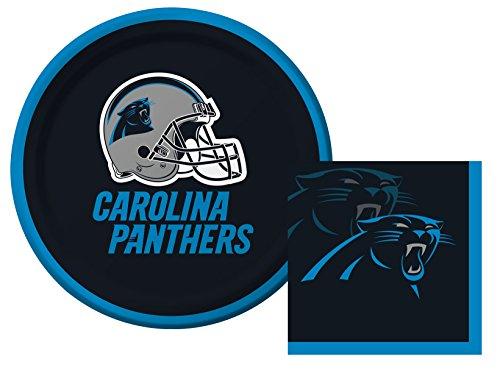 Carolina Panthers Nfl Starter (Carolina Panthers NFL Dessert Napkins & Plates Party Kit for 8)
