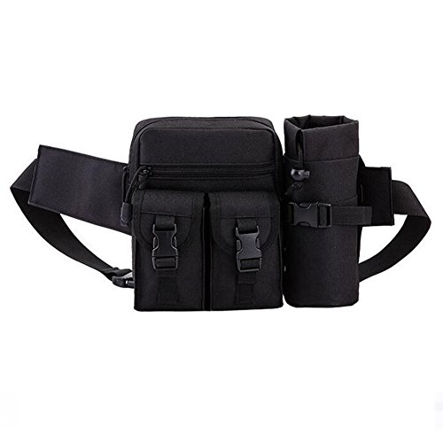 Tactical Waist Pack Pouch With Water Bottle Pocket Holder...