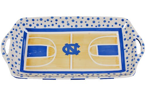 Basketball Court Serving Platter by Magnolia Lane (UNC -