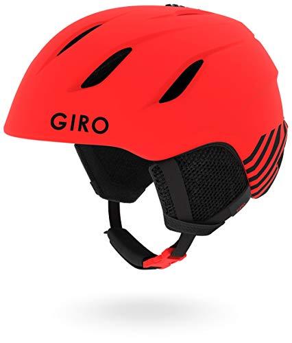 Red Snow Helmets - Giro Nine Jr Kids Snow Helmet Mat Red Zoom M (55.5-59cm)