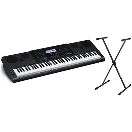 Casio WK6600 76 Note Portable Keyboard w/Built-In Speakers, Power Supply, and Keyboard Stand by Casio