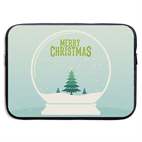 Jingclor Business Briefcase Sleeve Merry Christmas Snow Globe Portable Laptop Protective Bag for MacBook Pro/MacBook Air/Asus/Dell