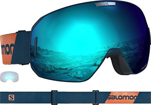 Salomon S/Max Ski Goggles, Moroccan/Solar/Light Blue