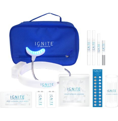 Brilliant Tooth Whitening System (IGNITE LED Teeth Whitening Kit, Sensitive Teeth Whitening System, Hands-Free Design)