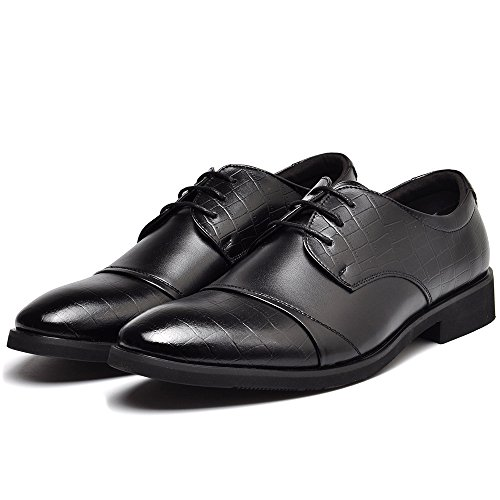 Up Dress Business Shoes Men Black Office Lace Wedding Oxford for Men's REETENE fPx0BqEv