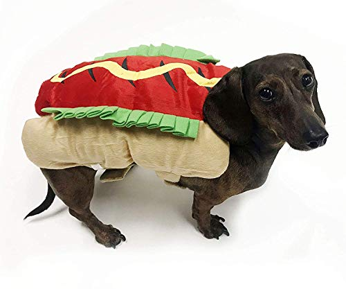 Midlee Small Dog Costume - Hot Dog (8