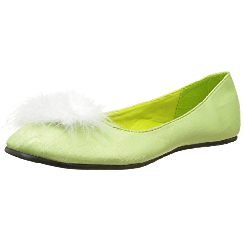 Tinkerbell Shoes Costume (Satin Ballet Flat Tinker Bell Costume Shoe Cute Green Shoes Size: 6)