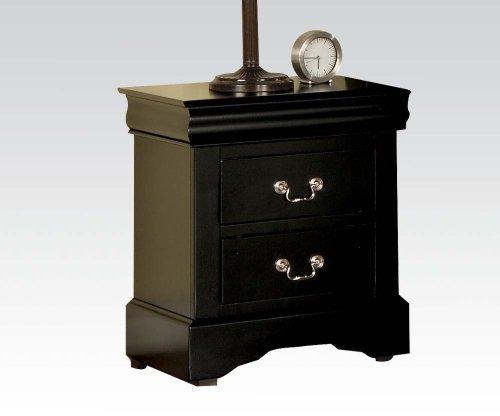 Furniture Set Acme Nightstand - ACME 19503 Louis Philippe III Nightstand, Black