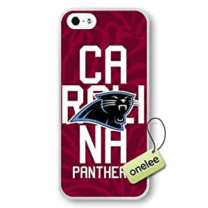NFL Carolina Panthers Team Logo Case For Iphone 6 Plus (5.5 Inch) Cover White Hard(PC) Soft Case CovWhite