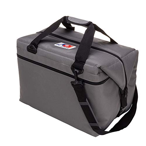 AO Coolers Original Soft Cooler with High-Density Insulation, Charcoal, 48-Can