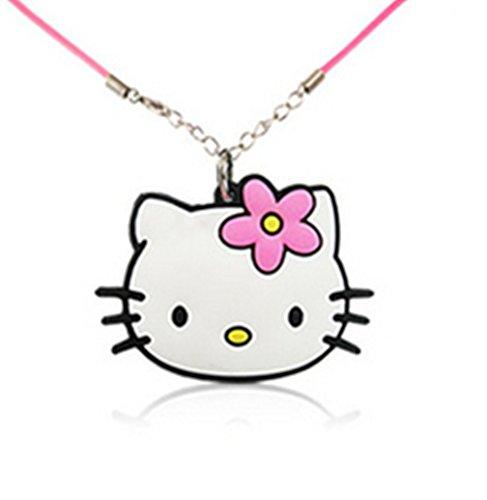 Glazed Black Cherry Sweet - Hello Kitty Cat Necklace - Delicate - Girls Jewelry - Chic - Pnkkitty2 - Hello Kitty Sweets