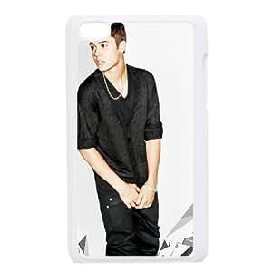 Justin Bieber funda iPod Touch 4 caja funda del teléfono celular blanco cubierta de la caja funda EEECBCAAJ03729