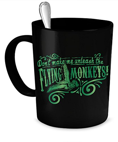 [Oz Coffee Mug - Don't Make Me Unleash Flying Monkeys] (Munchkin From Wizard Of Oz Costumes)
