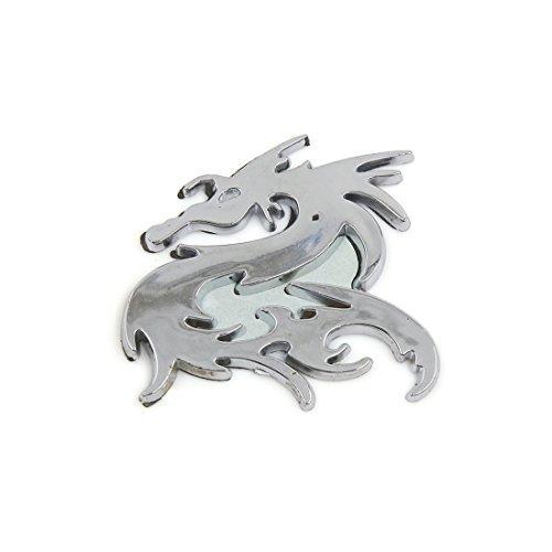 eDealMax ton argent 3D de Dragon dcoration adhsif Ornement autocollant pour voiture