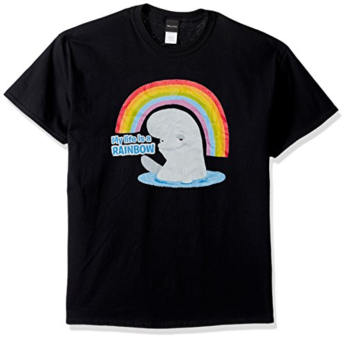 Disney Mens Finding Dory Bailey Life is A Rainbow Graphic T-Shirt