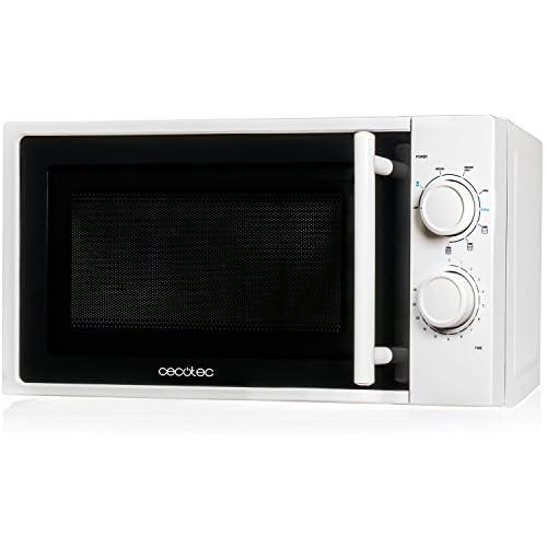 chollos oferta descuentos barato Cecotec Microondas White con Grill Capacidad de 20l 700 W de Potencia grill de 900W 9 Niveles Funcionamien