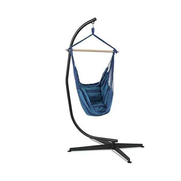 Belleze Hammock Chair with C Stand Combo